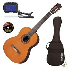 Yamaha Gigmaker C40 Classical Acoustic Nylon String Guitar Pack Natural Tuner