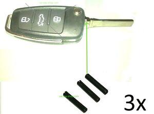 3x Spannstift Hohlsplint Stift Splint Autoschlüssel Bart Schlüssel Rohling Pin 3
