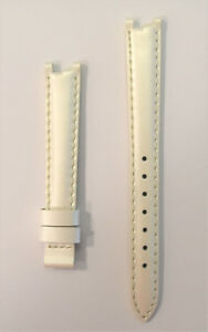 Original Tissot Women's Flamingo T094210A White Pearl 12mm Leather Strap Band