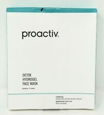 Proactiv Detox Hydrogel Face Mask Box of 3 Masks Charcoal Moroccan Lava Clay