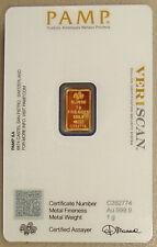 Pamp Suisse 1 Gram .9999 Fine Gold Fortuna Bullion Bar
