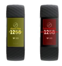 2x Schutzfolie für Fitbit Charge 3 inkl. Rundung Flex Folie dipos Display Schutz