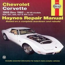Chevrolet Corvette: 1968 thru 1982, All V8 models, 305, 327, 350, 427 & 454 cu i