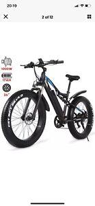 Electric Mountain bike 1000W Fat Tyre Ebike 48V 17AH 816WH Bicycle 40km/h Moped