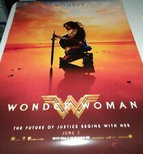 WONDER WOMAN 2017 MOVIE POSTER 2 Sided ORIGINAL DS Advance E 27x40 GAL GADOT