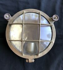 Antique Brass Nautical Wall Light Fixture