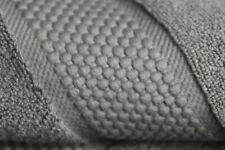 NEW Frette 9 PC TOWEL SET Elisa Border Bath Sheet Washcloth Hand Graphite Grey