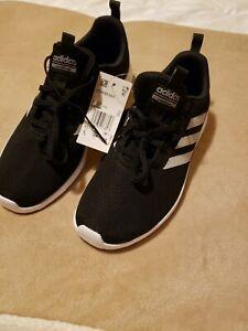 adidas lite racer Cln K Cloudfoam Sport Athletic Shoes Black-white Mens 6