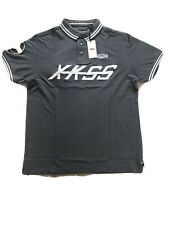 Jaguar Polo Shirt XKSS D Type Mens Official Dark Grey Large New 100% Cotton