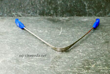 Ayurveda Zungenreiniger aus Edelstahl, Zungenschaber (blau)