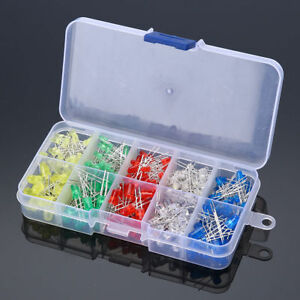 White Yellow Red Green Blue Assorted Kit DIY 300pcs 3mm 5mm LED Diodes Emitting