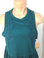 Womens Taylor & Sage Top Shirt Blouse Sleeveless Size Large Color Dark Teal NEW