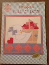 HEARTS FULL OF  LOVE CROSS STITCH BOOKLET - 1987 - SEE PATTERN PICS - GREAT COND