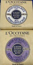 2 Bars L'Occitane Soap Extra Gentle Milk & Lavender Scent 3.5 Oz New & Unwrapped