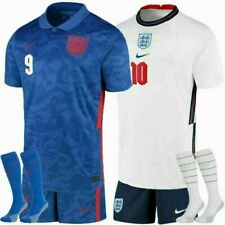 20/21 England Home Away Football Full Kits Boys Soccer Jersey Custom Shirt