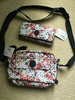 Kipling Rosa and New Teddi Wallet in Busy Blossoms NWT Combined MSRP $113