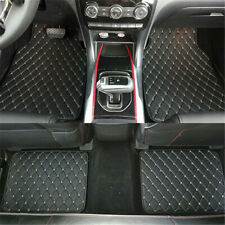 4x Black PU Leather Universal Car Floor Mats Carpet Front Rear Liner Weather Set
