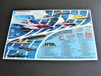 American Power Boat Association-2000 Tentative Schedule of Events Photo Poster.