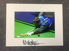 An 8 x 6 inch mount with photo signed by Snooker Player Matthew Stevens. (3).