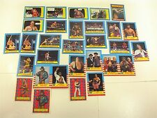 VINTAGE LOT 30 WRESTLING WRESTLE MANIA III CARDS RINGSIDE ACTION SCARE TACTICS