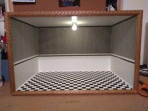 Lg. Elegant Dollhouse Miniature Room Box Christmas Display 1:12