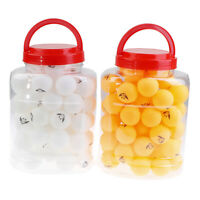 Professional 60Pcs Seamless Table Tennis Ping Pong Balls Sports Indoor 40MMSPIT