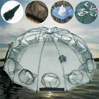 24 Holes Foldable Fishing Shrimp Fish Crab Yabbie Bait Trap Cast Dip Net Cage