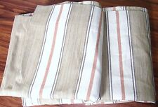 "Pottery Barn Joshua Stripe Drapes 50 x 108"" Neutral"