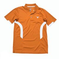 Majestic Section 101 Texas Longhorns Stitched Polo Shirt Men's Medium (M) Orange