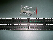 "New Tuff Jacks Cat5e 48 Port Patch Panel 19"" Rack Mount Free Same Day Shipping"