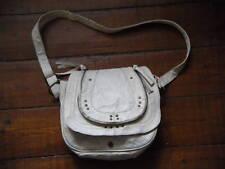 Cream Leather Saddle Shoulder  Bag