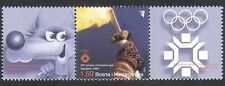 Bosnia 2004 Winter /Olympics/Torch/Flame/Mascot/Olympic Rings 1v + lbls (n33997)