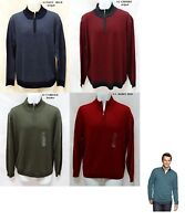 Club Room mens Italian Yarn Merino Wool Blend 1/4-Zip Sweater S M L XL XXL NEW