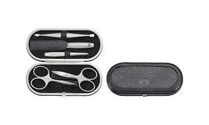 Zwilling Twinox Yak Rahmen-Etui, Yakleder, schwarz, 5-tlg. Beauty Maniküre