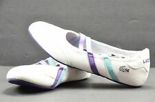 Women's Lacoste Mary Jane Ballet Flats White Size 6 FREE SHIPPING