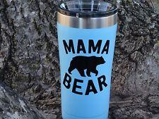 Custom Mama Bear Vinyl Decal for Yeti Rambler, Rtic, Ozark Trails, Tumbler