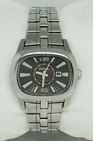Ladies Fossil Blue All  Stainless Steel Silver Tone Brown Dial Watch AM4121 B7