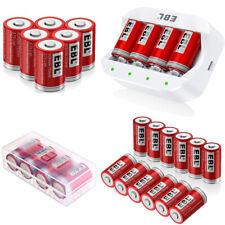 Lot 16340 750mAh RCR123A Li-ion Rechargable Batteries / 4 Slots Battery Charger