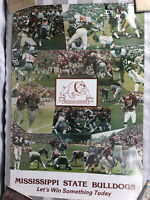Vintage Mississippi State Bulldogs 1978 Bulldog Country Football Poster 28x19