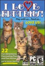 I Love Kittens! PC CD exercise virtual felines pet cat breeds puzzle animal game