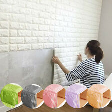 DIY 3D Brick Wall Sticker Self-Adhesive Foam Wall Art Panels Room Decal 7Colors