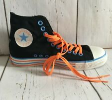Converse Black Canvas High Tops Shoes Sneakers All Star Chuck Taylor Kids Sz 6Y