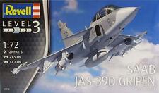 REVELL 1:72 KIT AEREO SAAB JAS-39D GRIPEN TWIN SEATER BIPOSTO  21,5 CM ART 03956