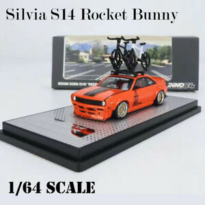 INNO 1/64 Model Car Nissan Silvia S14 Rocket Bunny Alloy Vehicle Die-cast Gifts