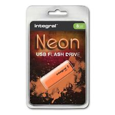 Integral 8GB Neon USB Stick - in Orange A GADGET SHOW AWARD WINNER