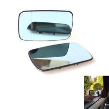 1 Pair Split Mirror Heated Glass Blue fit for BMW E46 99-05 Sedan Brand new