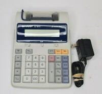 Sharp EL-1801C Semi-Desktop 2 Color Printing Electric Calculator PRINTER BROKEN