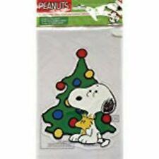 Snoopy Christmas Gel Window Cling NIP Woodstock