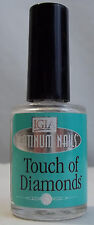 IGIA Touch Of Diamonds PLATINUM NAILS Clear Coat Nail Polish Hardener 0.50oz