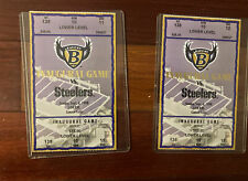 New listing 2 x baltimore ravens bs pittsburgh steelers 1998 tockets inaugural game